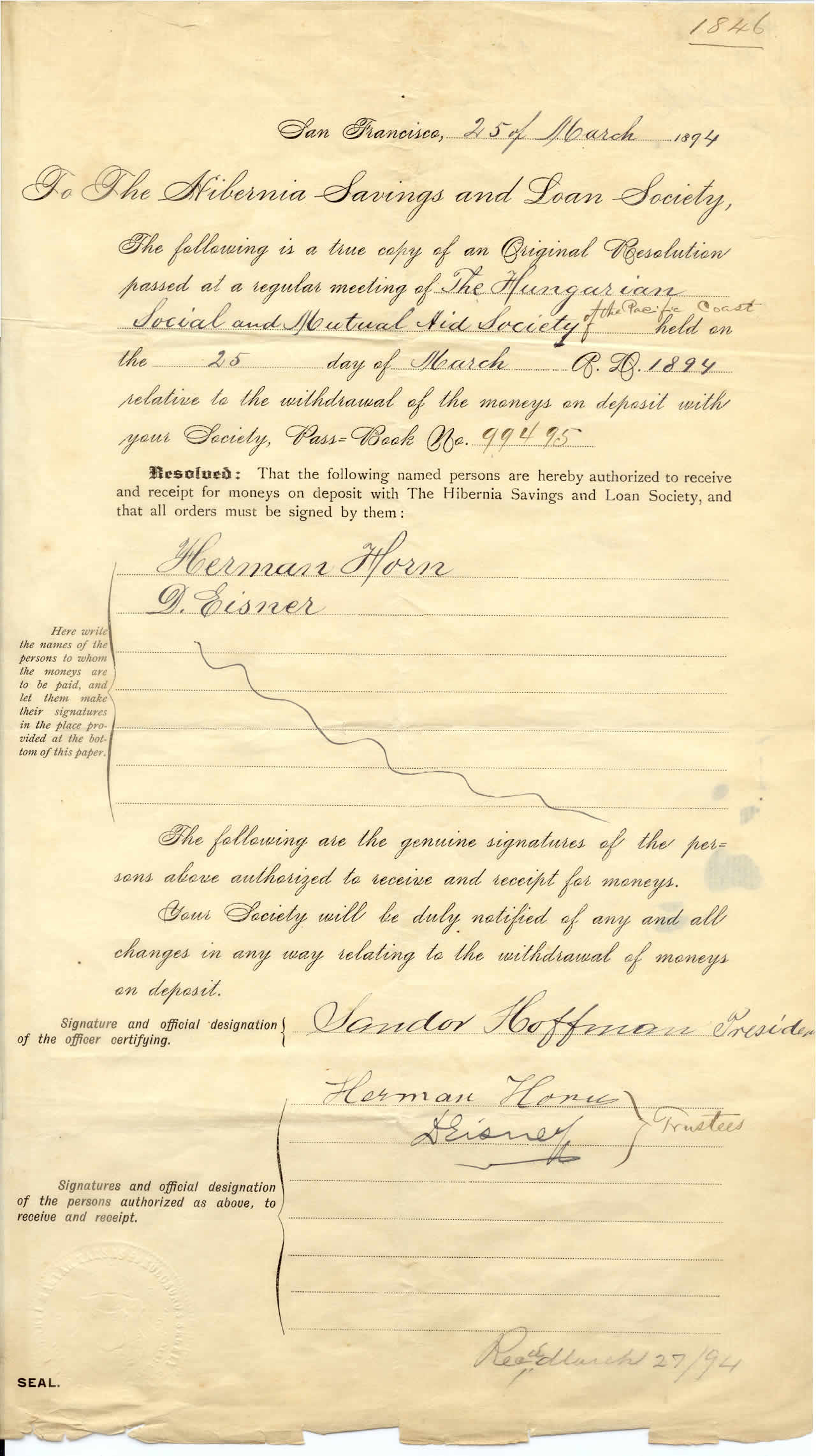 Hibernia document